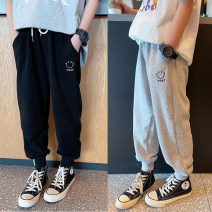 trousers Other / other neutral Black, gray, black reservation, gray reservation spring and autumn trousers leisure time There are models in the real shooting Casual pants Leather belt middle-waisted Don't open the crotch Cotton 90% polyurethane elastic fiber (spandex) 6% polyester 4% Class B