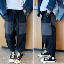trousers Other / other male 110 / 110cm, 120 / 120cm, 130 / 130cm, 140 / 140cm, 150 / 150cm, 160 / 160cm, 170 / 165cm black spring and autumn trousers leisure time There are models in the real shooting Casual pants Leather belt middle-waisted Don't open the crotch Cotton 100% Class B Chinese Mainland