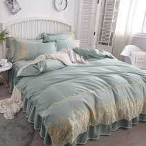 Bedding Set / four piece set / multi piece set cotton other Solid color 133x72 Other / other cotton 4 pieces 60 Pink, light green, light gray, camel, off white, Princess Xiang - pink, Princess Xiang - bean green, Lucy - blue, Lucy - bean paste, Lucy - pink, Lucy - white Bed skirt Superior products