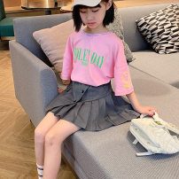 skirt 110cm (7), 120cm (9), 130cm (11), 140cm (13), 150cm (15), 160cm (17) Black, gray Other / other female Cotton 95% polyester 5% spring and autumn skirt Pleats cotton CR/104/66912 Class B