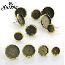 Ear Studs other 0.01-0.99 yuan RuiSha No.1 in 14 mm, No.1 in 14 mm with glass, No.2 in 12 mm, No.3 in 10 mm, No.4 in 8 mm, No.4 in 8 mm with glass, one size with glass, one size without glass brand new ethnic style female goods in stock Fresh out of the oven Not inlaid other rs-00273