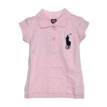 T-shirt Pink Other / other 85cm,90cm,95cm,135cm,145cm female summer Short sleeve Lapel and pointed collar leisure time No model nothing cotton Solid color Cotton 100% Class A Sweat absorption