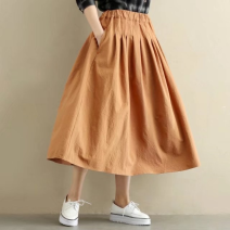 skirt Autumn of 2019 Average size Black, yellowish