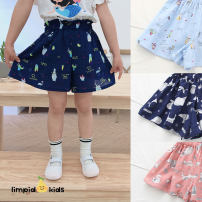 trousers Other / other female 100cm,110cm,120cm,130cm,140cm,150cm Blue owl, Navy owl, pink fawn, Navy fawn summer shorts leisure time There are models in the real shooting Beach pants Leather belt High waist Cotton and hemp Don't open the crotch