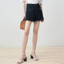 skirt Spring 2021 XS,S,M,L,XL,XXL black Short skirt Natural waist 25-29 years old 51% (inclusive) - 70% (inclusive) Denim cotton