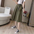 skirt Summer 2020 Average size Army green, apricot, black 18-24 years old