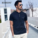 Polo shirt Kuegou / cool clothes Fashion City routine White, black, dark blue, army green M/170,L/175,XL/180,XXL/185,XXXL/190 standard Other leisure summer Short sleeve ZT-3383 Business Casual routine youth Spandex (3% polyester) 72% polyurethane other cotton No iron treatment Embroidery