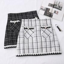 skirt Autumn 2020 S,M,L,XL White, black Short skirt A-line skirt Type A 31% (inclusive) - 50% (inclusive)