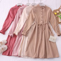 Dress Autumn 2020 Apricot, khaki, pink, Burgundy, light blue, dark blue, black, brick red Average size Middle-skirt Long sleeves other Others Type A 31% (inclusive) - 50% (inclusive)