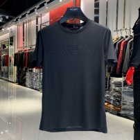 T-shirt Fashion City Black, white thin M,L,XL,2XL,3XL,4XL Others Short sleeve Crew neck Self cultivation daily summer routine Business Casual Cotton wool 2021 Solid color Hot drilling Cotton ammonia The thought of writing Hot drilling