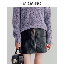 skirt Winter of 2019 XS,S,M,L,XL,XXL black Short skirt Type A MJ42EA032 Migaino / manyanu