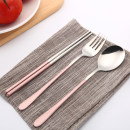 Spoon Set / fork chopsticks Chinese Mainland Metal Self made pictures public dormitory Daily gift giving