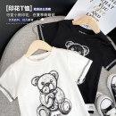 T-shirt White, black Righteuro 90CM,100CM,110CM,120CM,130CM male summer Short sleeve Crew neck leisure time No model nothing Pure cotton (100% cotton content) Cartoon animation Cotton 100% 2, 3, 4, 5, 6, 7, 18 months