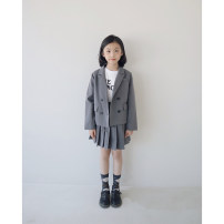 suit Other / other Dark grey (suit coat), dark grey (pleated trouser skirt) 3A (100cm), 4a (110cm), 5A (120cm), 6a (130cm) model size, 8A (140cm), 10a (150cm), 12a (160cm), 14a (170cm) female spring and autumn Britain Long sleeve + skirt 2 pieces routine There are models in the real shooting Class C