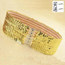 Belt / belt / chain other female Waistband Versatile Single loop Youth, youth, middle age Double buckle Leather decoration soft surface 7cm alloy Xingruisen