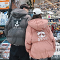 cotton-padded clothes Grey, pink Others S,M,L,XL,2XL Fashion City routine standard Other leisure C406-M30-P123 Hood youth Animal design