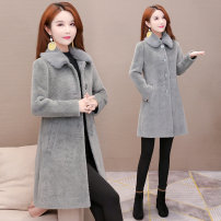 woolen coat Winter of 2019 M. L, XL, shopping cart + collection + pay attention to the store, enjoy priority delivery, get 40 coupons, take 40 coupons Grey, beige polyester 31% (inclusive) - 50% (inclusive) routine Long sleeves commute Single breasted routine Polo collar Solid color Self cultivation