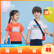 T-shirt 361° 101cm 110cm 120cm 130cm currency summer Short sleeve Crew neck leisure time There are models in the real shooting nothing cotton Brand logo Cotton 100% other Sweat absorption Summer 2021 Three years old, four years old, five years old and six years old Chinese Mainland Fujian Province