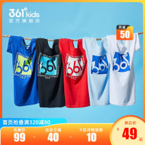 T-shirt Boy: impression blue boy: Sports blue boy: Ben White Boy: classic black boy: vitality red girl: Ben White Girl: lotus powder girl: warm orange 361° 130cm 140cm 150cm 160cm 170cm 165cm currency summer Short sleeve Crew neck motion There are models in the real shooting nothing Cotton polyester