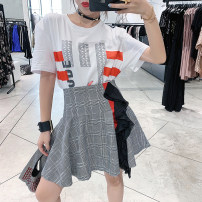 Fashion suit Summer of 2019 34/XS,36/S,38/M,40/L Top (in stock), skirt (in stock) 81% (inclusive) - 90% (inclusive) polyester fiber