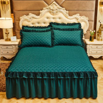 Bed skirt polyester cotton Solid color Qualified products 3A