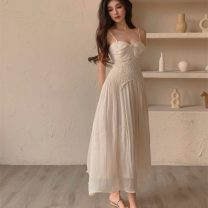 Dress Summer 2021 Picture color S,M,L longuette singleton  Sleeveless Sweet other High waist Socket A-line skirt other camisole 18-24 years old Type A Chiffon