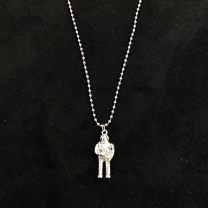 Necklace Titanium steel RMB 25-29.99 Other / other Silver, ice Silver Original design Round bead chain