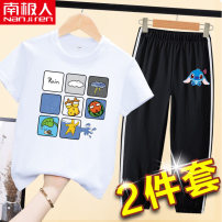 suit NGGGN 110cm 120cm 130cm 140cm 150cm 160cm male summer leisure time 2 pieces Thin money nothing Cartoon animation cotton stfwk-7 Class B Cotton 100% Spring 2021 Chinese Mainland Shandong Province