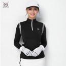 Golf apparel Black, white S,M,L,XL,XXL female BLK TEE Long sleeve T-shirt