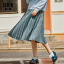 skirt Autumn 2020 150/58A/XS,155/62A/S,160/66A/M,165/70A/L,170/74A/XL,175/78A/XXL,180/82A/XXXL Blue tone 0188, coffee tone 0155 longuette Versatile Natural waist A-line skirt lattice Type A 18-24 years old 12-059200310 Semir / SEMA cotton