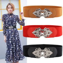 Belt / belt / chain other female Waistband grace Single loop Youth, youth, middle age a hook Geometric pattern soft surface 6cm alloy Tightness HF