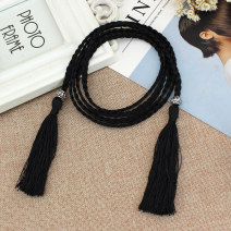 Belt / belt / chain other White, black, red, yellow, royal blue, pink, rose red, additional purchase + collection store + baby, free freight insurance female belt Versatile Single loop Children: 1-6 years old, children, teenagers, youth, middle age, old age other soft surface 0.7cm Weaving, tassels