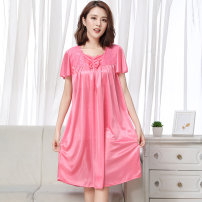 Nightdress Other / other 817 purple, 817 bean paste, 817 rose red, 817 watermelon red, 817 jujube red, 817 gold, 872 purple, 872 jujube red, 872 bean paste, 872 gold, 872 watermelon, 872 rose red, 218 purple, 218 jujube red, 218 bean paste, 218 gold, 218 watermelon, 218 rose red Sweet Short sleeve
