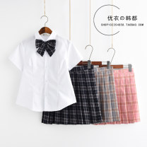student uniforms Summer 2021, winter 2021, spring 2021, autumn 2021 S,M,L,XL,XXL Short sleeve solar system skirt 18-25 years old pure cotton