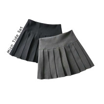 skirt Spring 2021 S, M Gray, black Short skirt commute High waist Pleated skirt Solid color Type A More than 95% other MICN polyester fiber fold Ol style