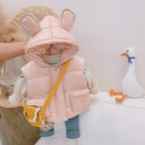 Vest neutral Other / other winter thickening zipper Korean version Solid color 2020MJ81 12 months, 18 months, 2 years old, 3 years old, 4 years old, 5 years old Chinese Mainland Pink, off white, black, pink lapel, black lapel, smaller, it is recommended to take a bigger size