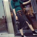 skirt Autumn of 2018 S,M,L,XL,2XL,3XL,4XL,5XL Elastic skirt 8872 send pendant, 8872 Pendant + different slim belt Mid length dress street High waist skirt 18-24 years old