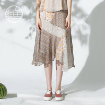 skirt Summer 2020 S M L XL light yellow Mid length dress fresh High waist Irregular Decor Type A 25-29 years old NFGXQ1016 More than 95% Nonfish / non fish polyester fiber Polyester 100% Same model in shopping mall (sold online and offline)