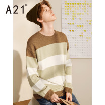 T-shirt / sweater A21 Youth fashion Deep apricot 165/80A/S 170/84A/M 175/88A/L 180/92A/XL 185/96A/XXL routine Socket Crew neck Long sleeves R494143009 autumn easy 2019 Polyacrylonitrile fiber (acrylic fiber) 61% polyamide fiber (nylon fiber) 30% wool 9% leisure time Japanese Retro youth routine