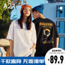 T-shirt Youth fashion Black extra white routine 165/80A/S 170/84A/M 175/88A/L 180/92A/XL 185/96A/XXL A21 Short sleeve Crew neck easy Other leisure spring R411131003 Cotton 100% youth routine tide Knitted fabric Spring 2021 other cotton other printing Fashion brand More than 95%