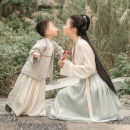 Parent child fashion Mother and son Female, male, neutral Other / other With children ethnic style routine other suit Cotton and hemp Chinese Mainland