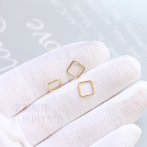 Other DIY accessories Other accessories other RMB 1.00-9.99 8 * 8mm closed square ring, 1 piece brand new Fresh out of the oven a pearl in the palm