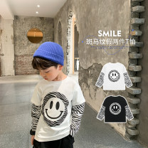 T-shirt White, black, white pre-sale, black pre-sale OO+KIDS 80cm,90cm,100cm,110cm,120cm,130cm,140cm neutral spring and autumn Long sleeves Crew neck Korean version There are models in the real shooting other Cartoon animation other 2 years old, 3 years old, 4 years old, 5 years old, 6 years old