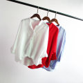 shirt Average size Spring 2021 cotton 81% (inclusive) - 90% (inclusive) Short sleeve commute Regular Polo collar Socket shirt sleeve Solid color Other / other Korean version Pocket, button