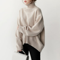 sweater Autumn of 2018 Average size Beige pink black blue Long sleeves Socket singleton  Regular acrylic fibres 31% (inclusive) - 50% (inclusive) High collar Regular commute routine Solid color Regular wool Keep warm and warm 18-24 years old Five hundred and twenty acrylic fibres Cotton clip
