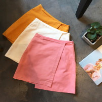 skirt Summer of 2018 S M Brown pre sold white pink ginger Short skirt commute High waist Irregular Type A 51% (inclusive) - 70% (inclusive) Other / other Korean version