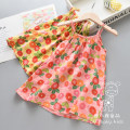 Dress Pink flower suspender skirt, yellow flower suspender skirt, Brown Leopard suspender skirt, gray leopard suspender skirt female Other / other 90cm,100cm,110cm,120cm,130cm Other 100% summer Strapless skirt Broken flowers Chinese Mainland
