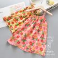 Dress Pink flower suspender skirt, yellow flower suspender skirt, Brown Leopard suspender skirt, gray leopard suspender skirt female Other / other 90cm,100cm,110cm,120cm,130cm Other 100% summer Strapless skirt Broken flowers Chinese Mainland