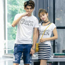 T-shirt Youth fashion routine Female s / 155 female M / 160 female L / 165 female XL / 170 male M / 170 male L / 175 male XL / 180 male XXL / 185 Ensun  Short sleeve Crew neck easy daily Cotton 95% polyurethane elastic fiber (spandex) 5% routine Spring of 2019 Pure e-commerce (online only)