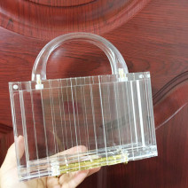 Bag clutch bag Acrylic plastics Envelope bag Other / other transparent brand new Fashion trend Small banquet hard no lattice nothing Horizontal square Hand carrying one Shoulder Messenger